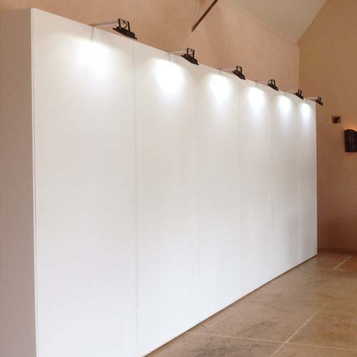 Exhibition Stand Hire : Temporary partitions art display panels exhibition walls